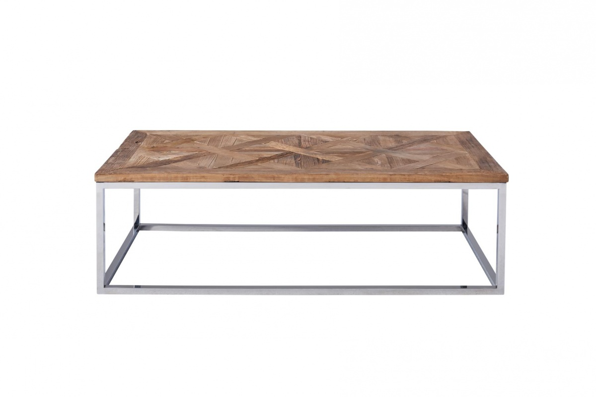 Recycling Couchtisch Couchtisch Pure Edelstahl Recycling Holz Massiv Design
