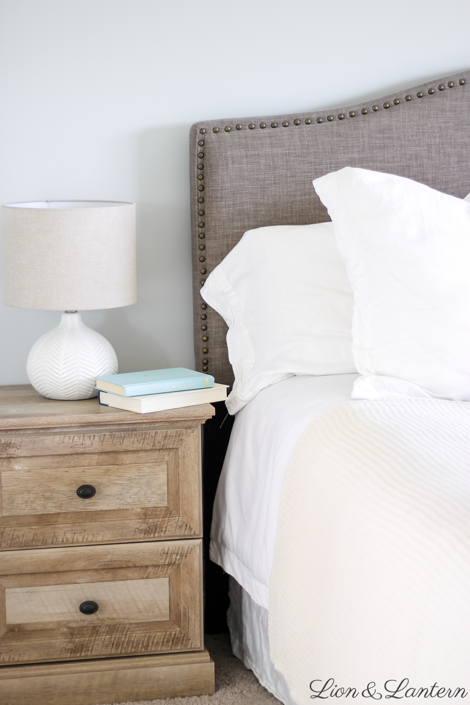Modern Coastal Master Bedroom Thrifted Decor Caitlin Marie Design