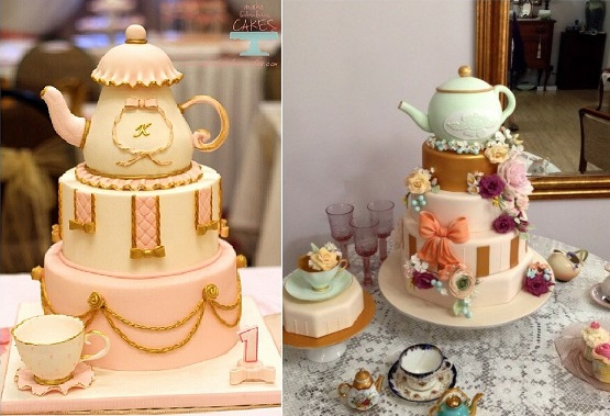 Vintage Teapot Wedding Cake