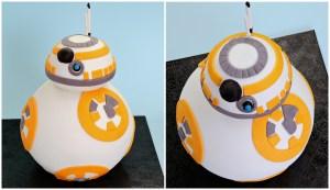 BB-8 Star Wars Cake