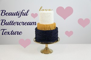 Dramatic Buttercream Wedding Cake
