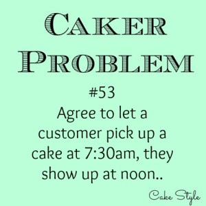 Caker Problem #53 – You're late!
