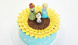 Frozen Fever Sunflower Cake