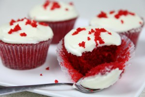 Red Velvet Cupcakes with Lemon Cream Cheese Frosting