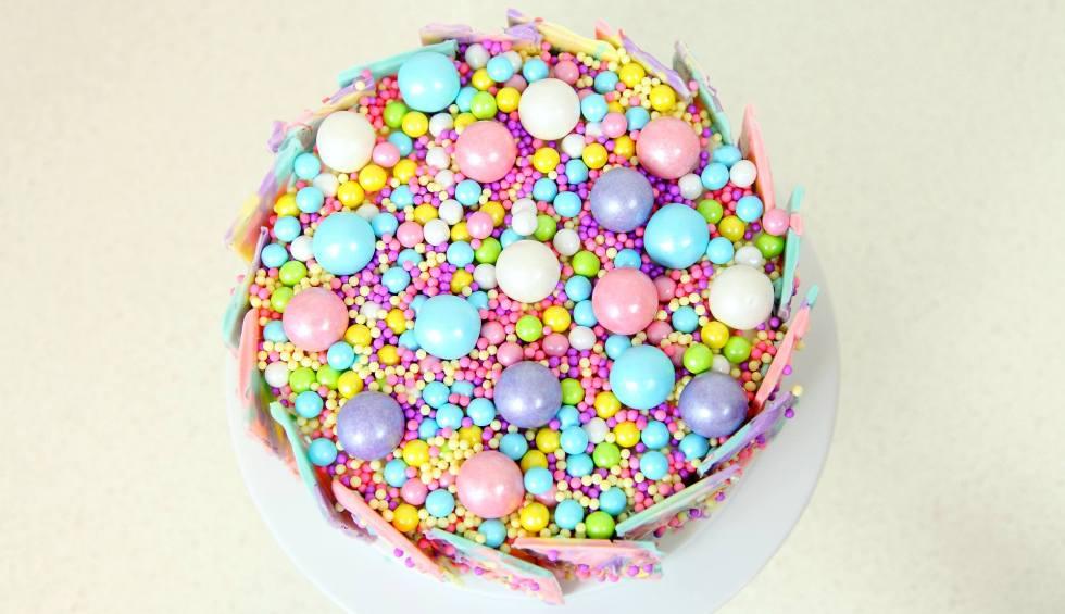 Rainbow chocolate cake