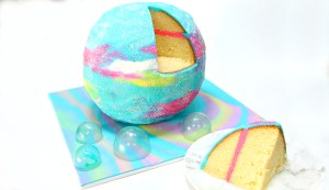Galaxy Bath Bomb Cake