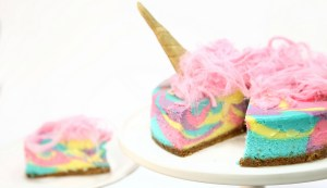 Rainbow Unicorn Cheesecake