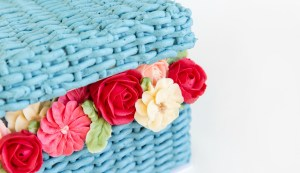 Basket Cake With Buttercream Flowers