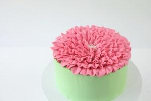 Pretty Carnation Cake