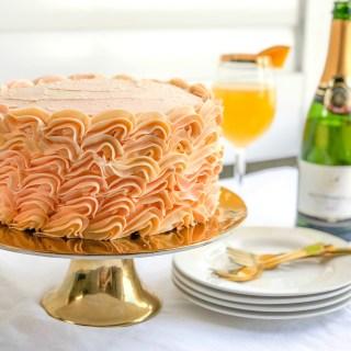 Grapefruit Orange Mimosa Cake