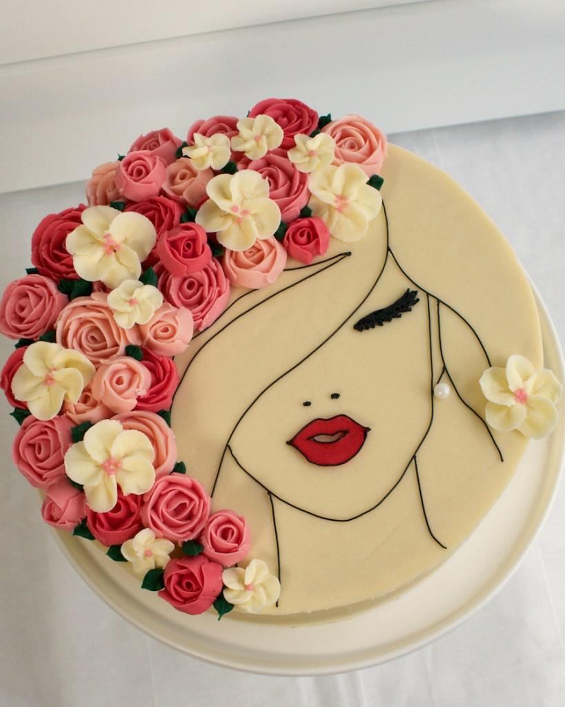 Floral Cake Face 1