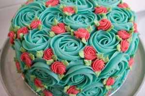 Rosette Cake With Retro Vibes