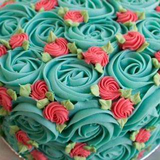 rosette cake close up