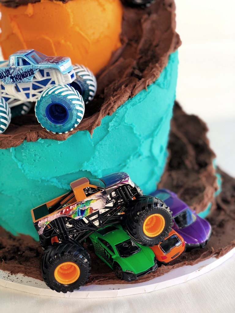 Monster Truck Cake close up
