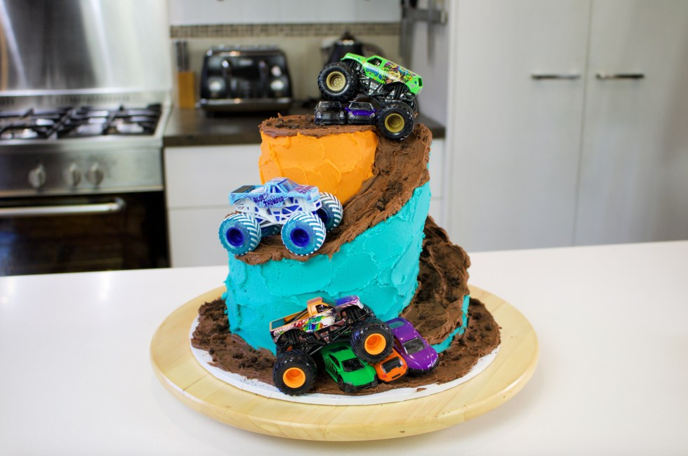 Monster Trucks Cake