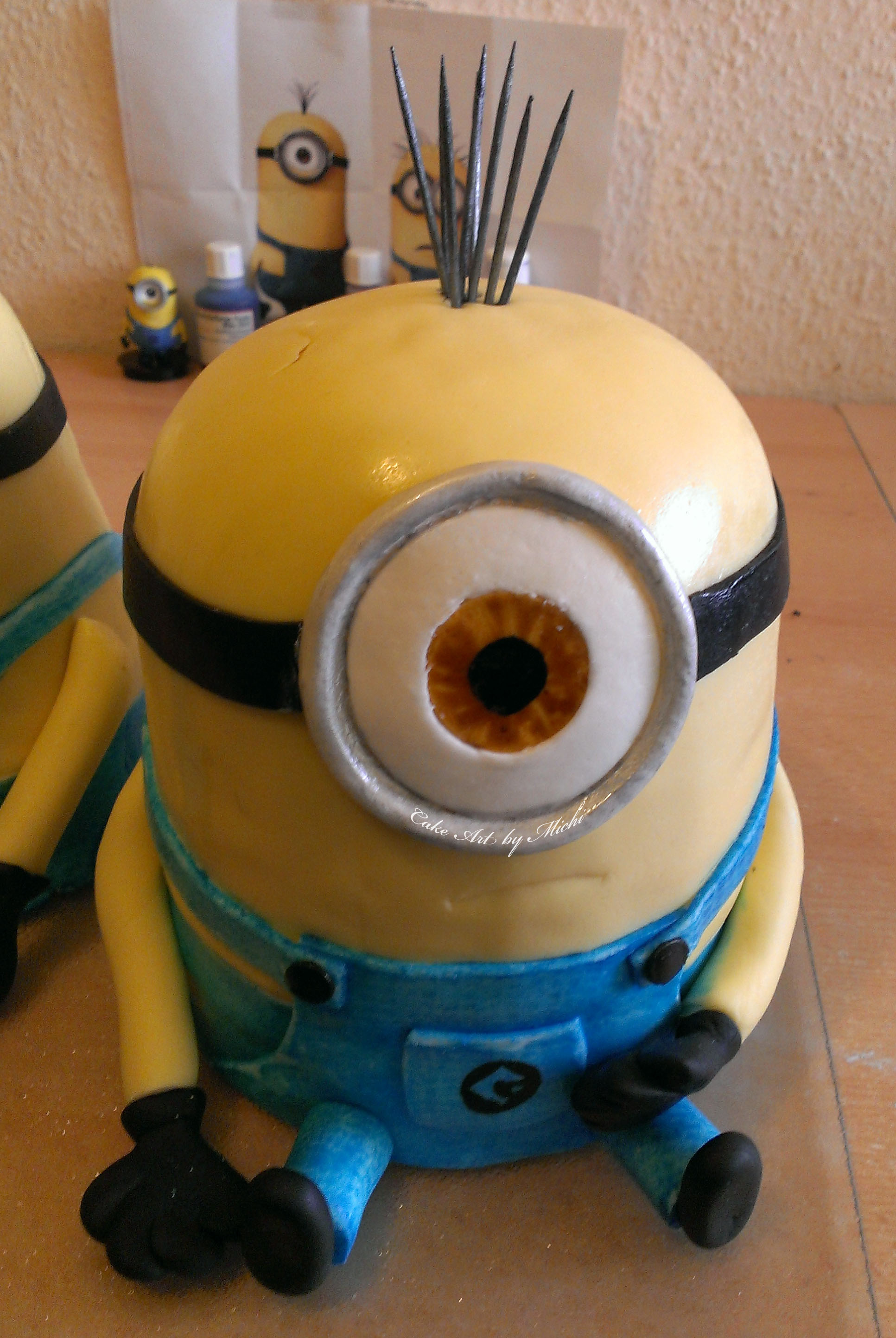 Minion Kuchen Backen Minions Torte Cake Art By Michi