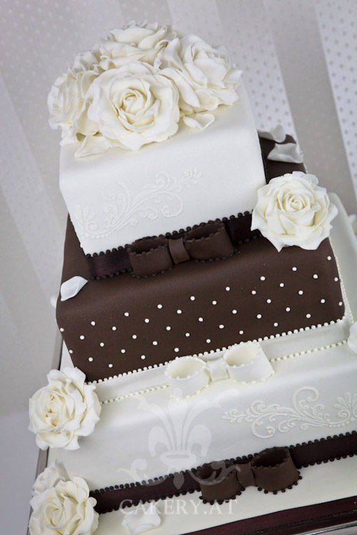 Rustikal Modern Hochzeitstorte - Brown Sensation › Rita-the Cakery, Torten