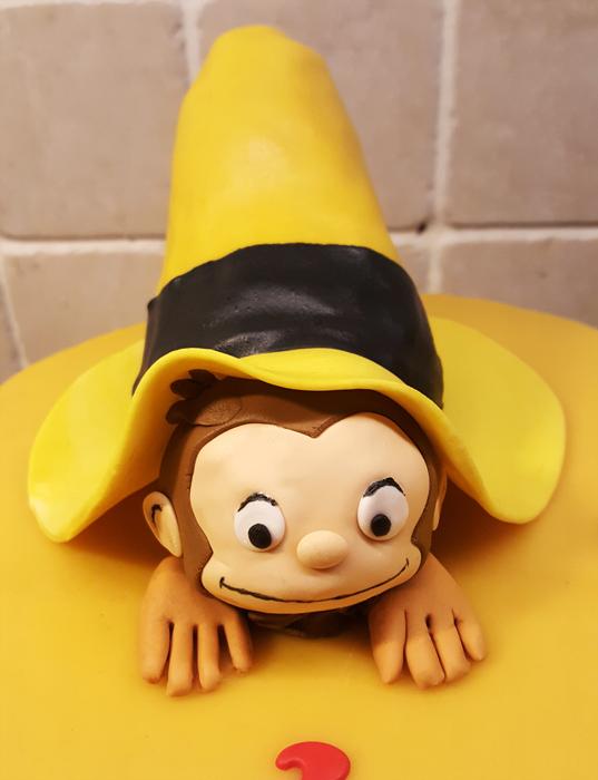 Curious George cake - Nicke Nyfiken-tårta