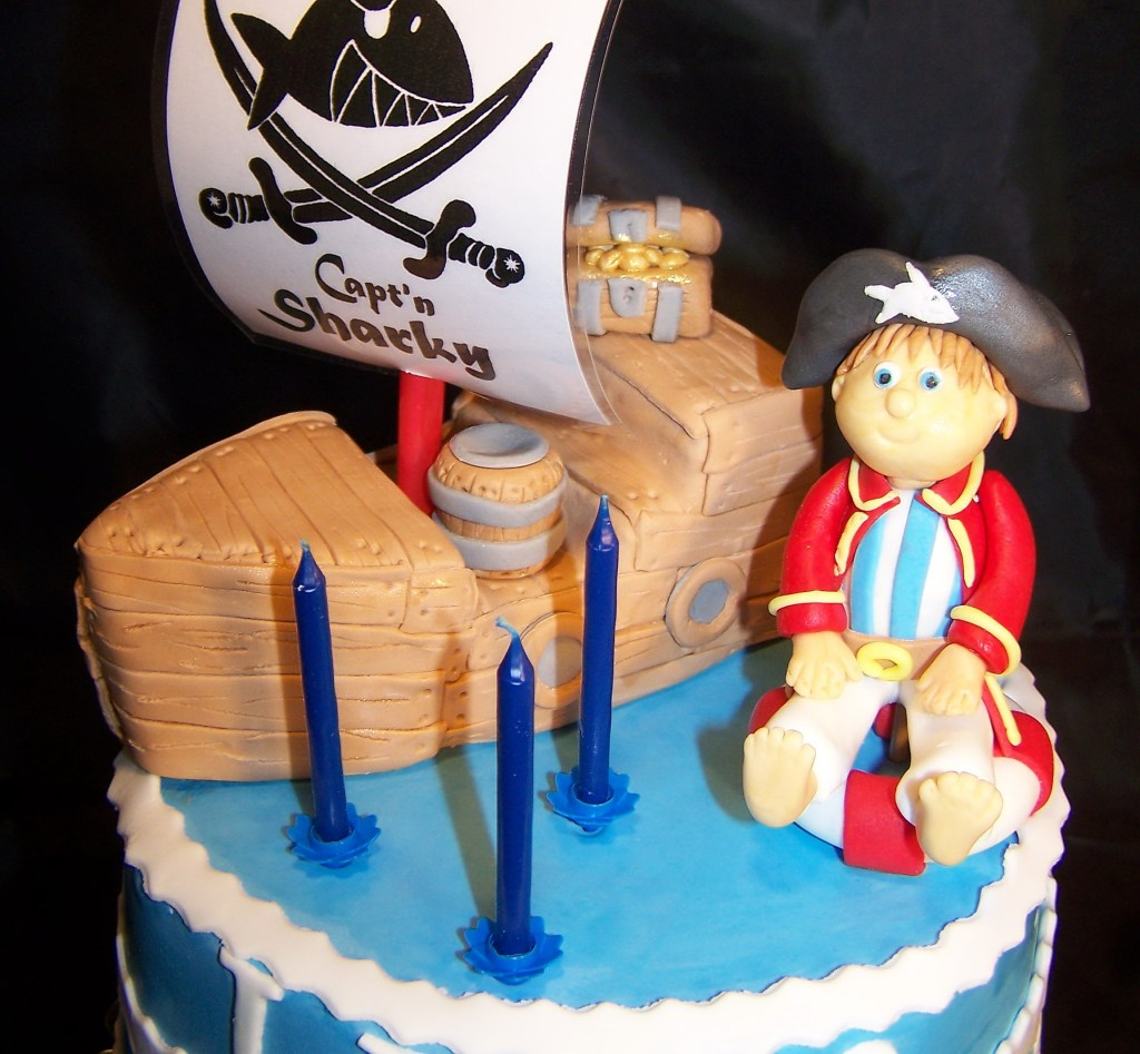 Fondant Torte Kindergeburtstag Captain Sharky Torte Lian | Cakes For Fun