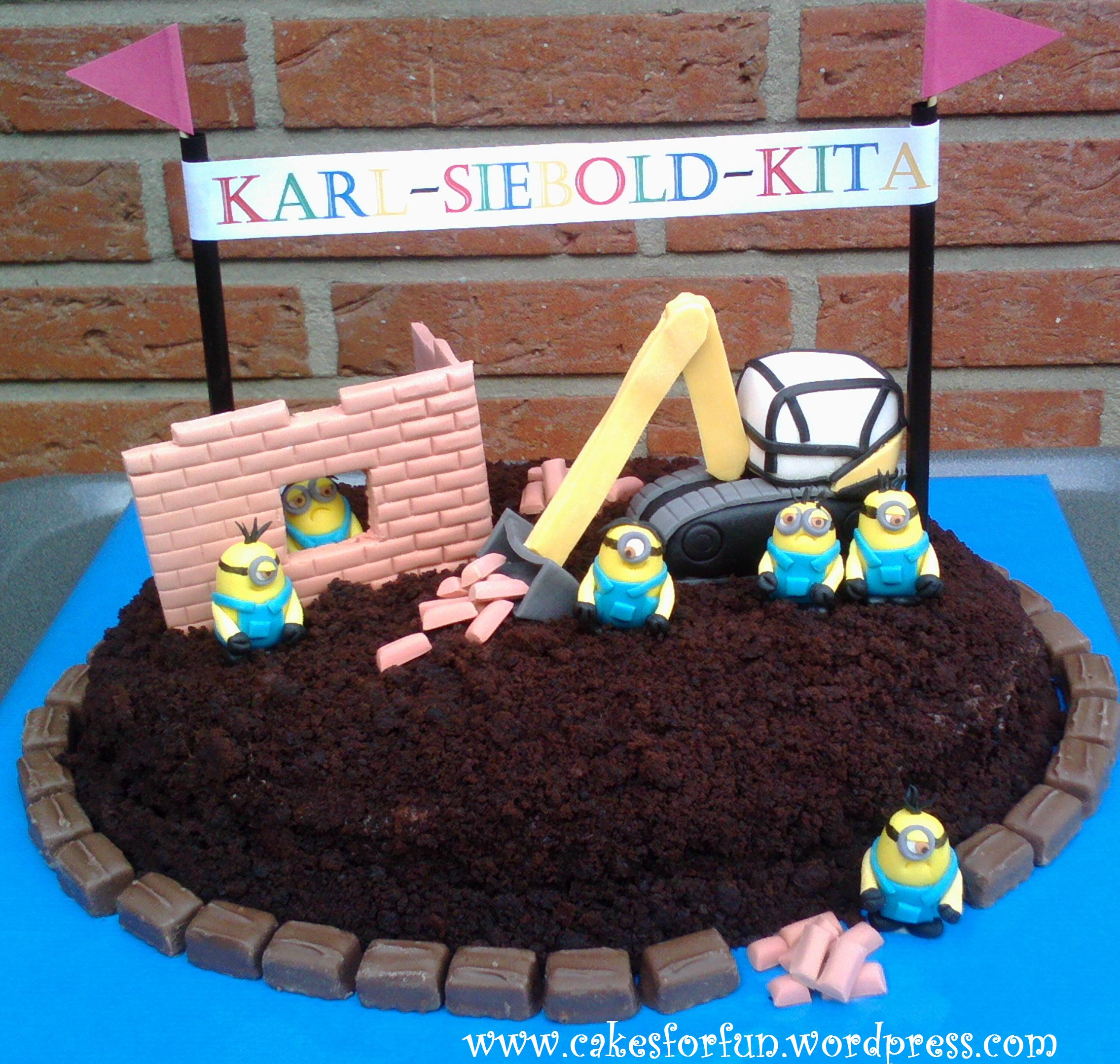 Minion Kuchen Backen Minion Kuchen Zum Richtfest Cakes For Fun