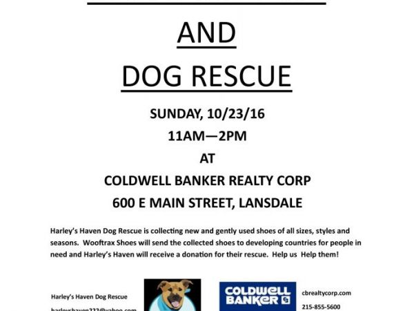 Oct 23 Used Shoe Drive And Dog Rescue Montgomeryville-Lansdale