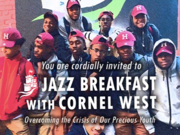 Apr 10 Prospect Hill Academy Hosts Jazz Breakfast with Cornel West - pm wells charter academy