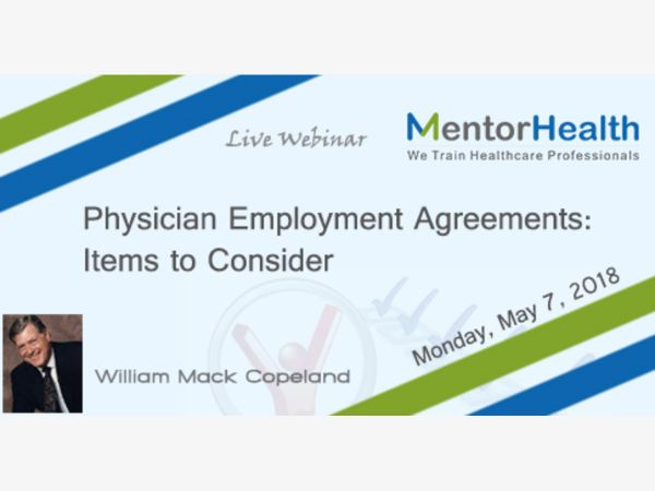 May 7 Physician Employment Agreements Items to Consider Fremont - employment agreements