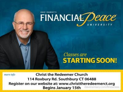 Mar 12   Dave Ramsey's Financial Peace University   Woodbury-Middlebury, CT Patch