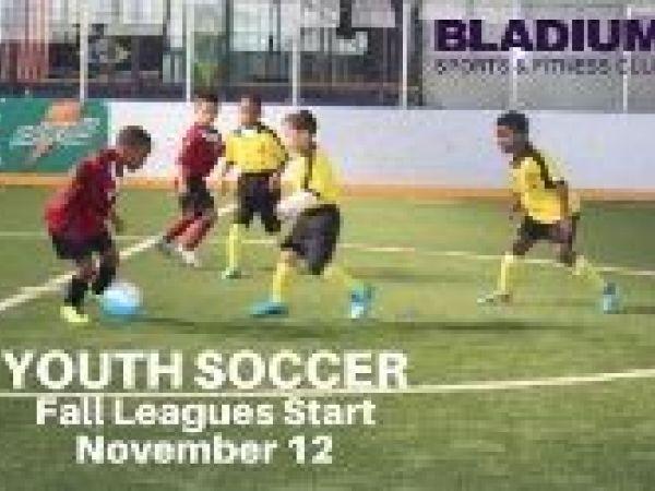 Nov 13 Bladium\u0027s Youth Indoor Arena Soccer League - Starts on