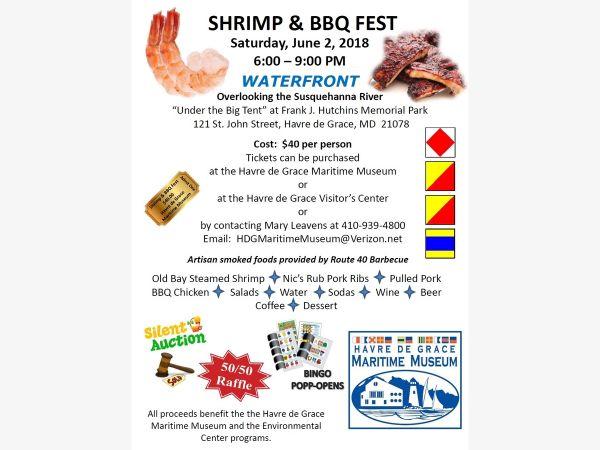Jun 2 Shrimp  BBQ Fest Havre de Grace, MD Patch - bbq benefit flyers
