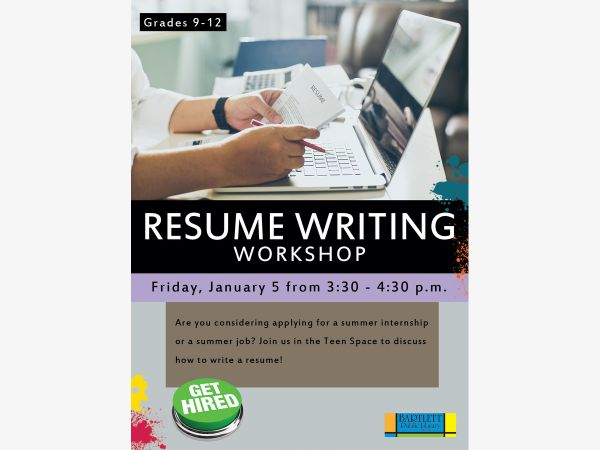 Jan 5 Resume Writing Workshop Elgin, IL Patch