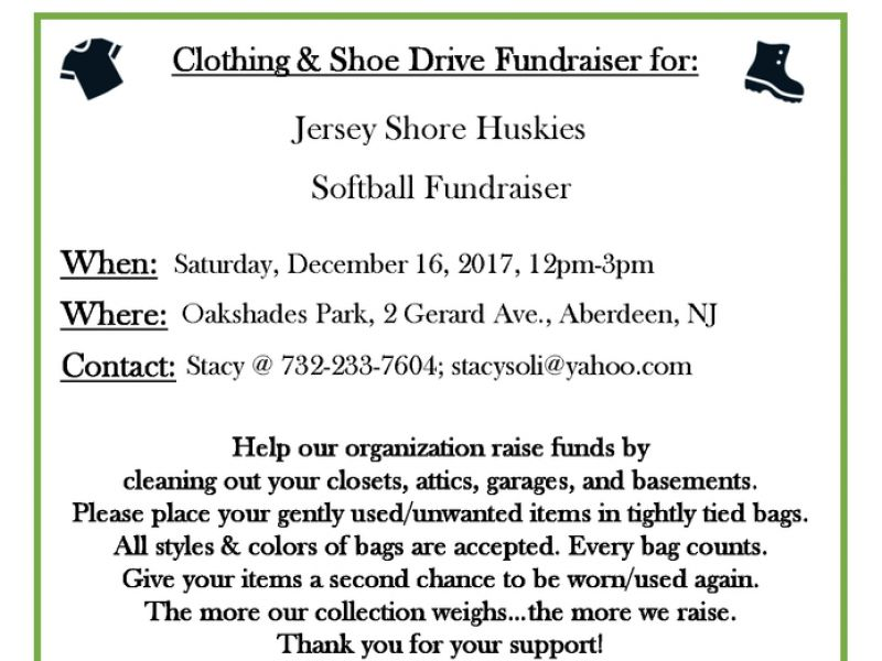 Dec 16 Jersey Shore Huskies Clothing and Shoe Drive (and more