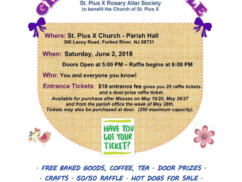 Jun 2 June Gift Basket Raffle Lacey, NJ Patch - raffle ticket prizes