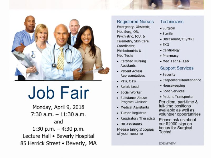 Apr 9 Job Fair Beverly, MA Patch - what to ask at a job fair