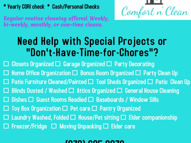 Oct 4 Local Cleaning Service North Andover, MA Patch