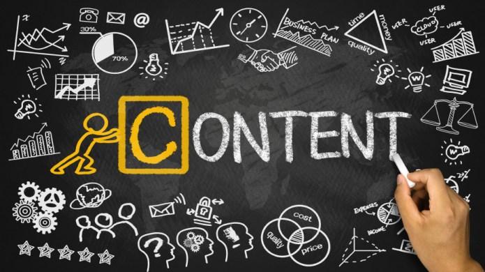 content concept handwritten on blackboard