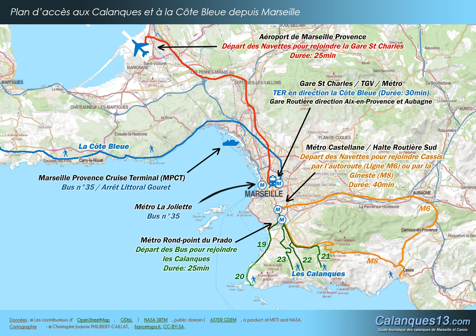 Navette Aubagne Marseille How To Get To The Calanques Itinerary Map Of The Calanques And