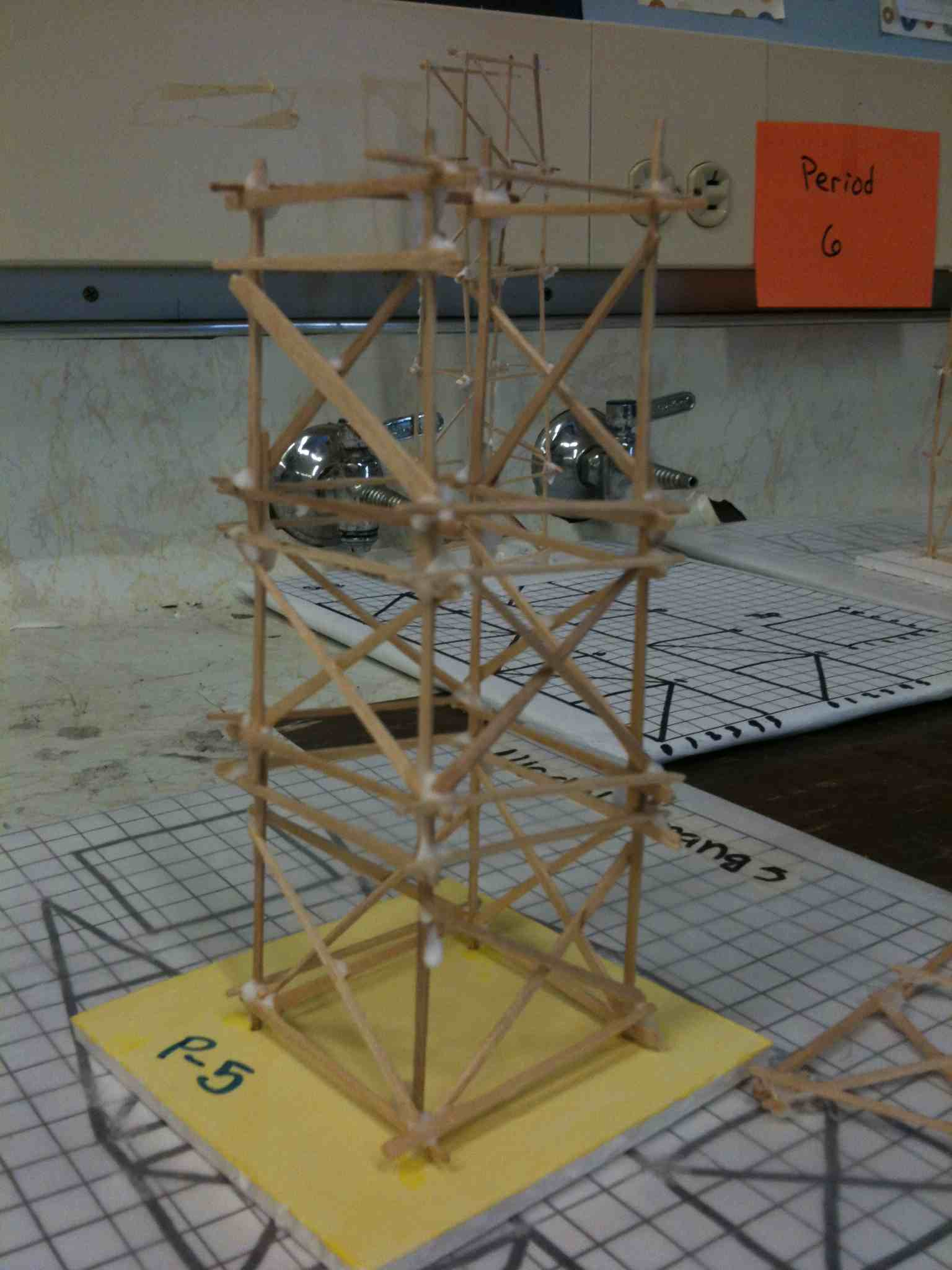 Earthquake Proof House Ideas Toothpick Tower Lab Mr Calaski