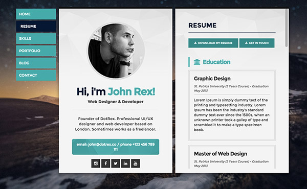 resume-website-examples-to-get-ideas-how-to-make-beauteous-resume-6 - web resume