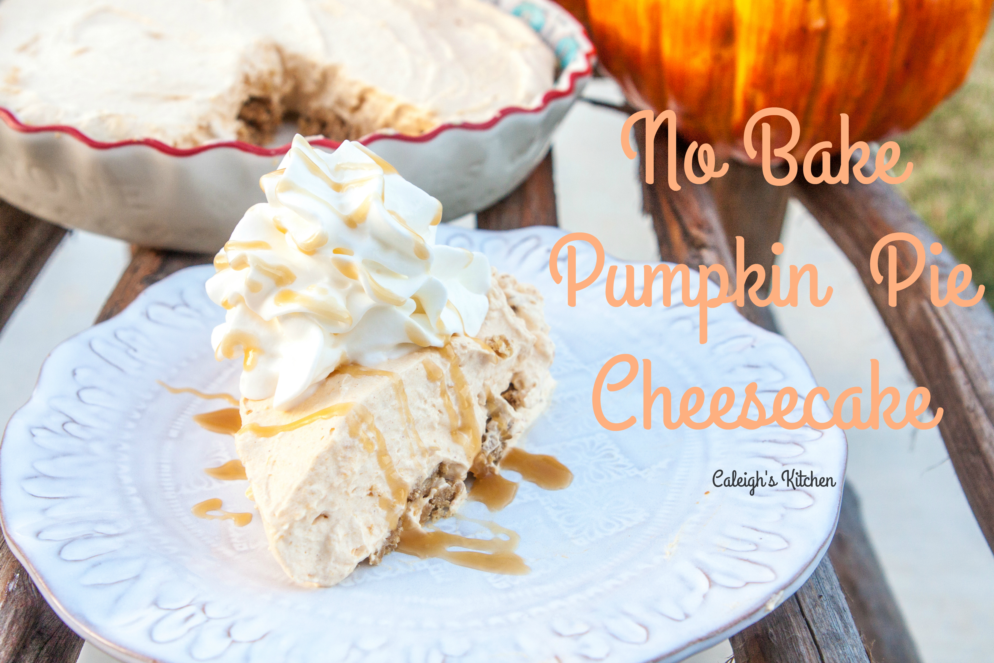 Virtual Baby Shower with No Bake Pumpkin Pie Cheesecake