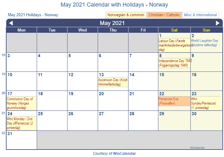 Religious Calendar Holidays 2017 Holidays 2017 Calendar Of Events Teaching Ideas Print Friendly May 2021 Norway Calendar For Printing