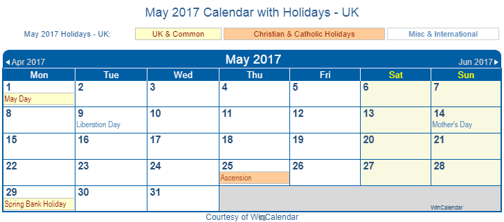 Calendar Holidays May Calendar For Year 2018 United States Time And Date Print Friendly May 2017 Uk Calendar For Printing