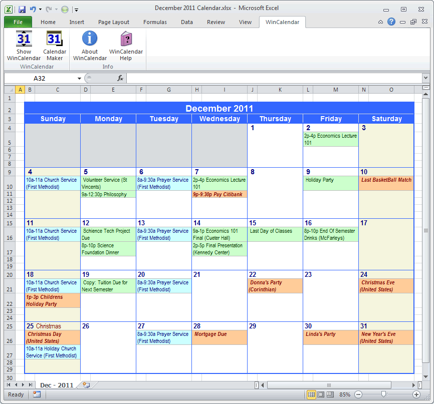 Monthly Calendar Xls 2015 2014 Calendar Excel 13 Free Printable Templates Xls Import Outlook Calendar Into Excel And Word
