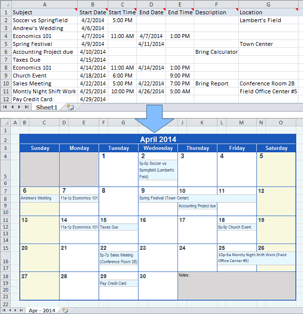 How Do I Create A Yearly Calendar In Excel Create A Calendar From Excel Data Create A Calendar From Excel Data