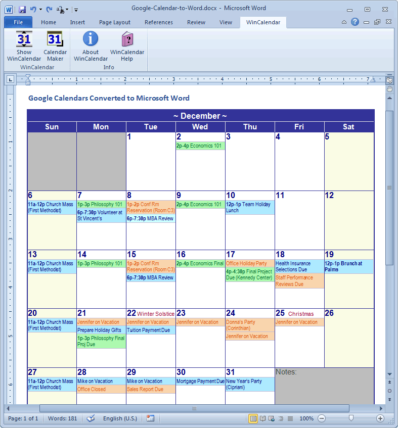 Google Create Calendar Xls Google Convert Google Calendar To Excel And Word Format