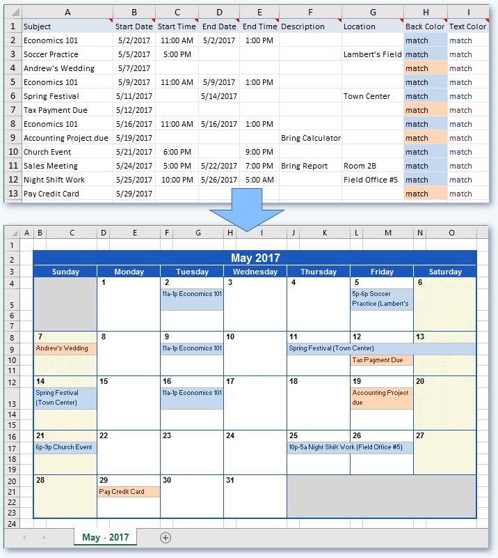 How Do I Create A Google Calendar Excel Microsoft Excel Android Apps On Google Play Create A Calendar From Excel Data