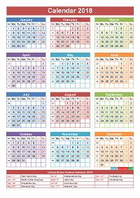 Calendar With Holidays In Usa Holidays And Observances In United States In 2018 2018 Calendar With Indian Holidays 2017 Calendar
