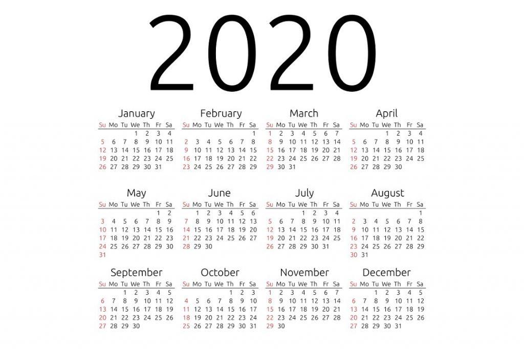 Free Printable Calendar 2020 Template in PDF, Excel, Word
