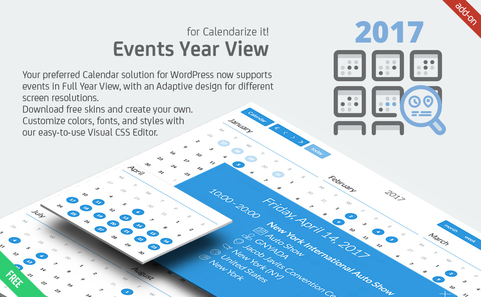 Events Year View for Calendarize it! Calendarize It!