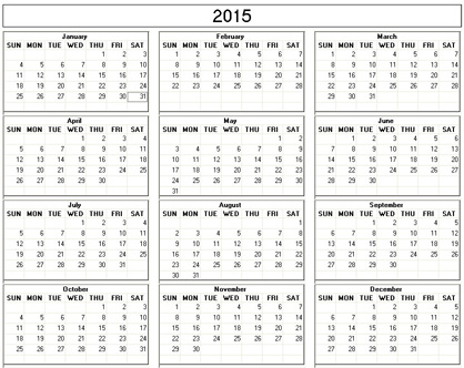 small calendars 2015 - Towerssconstruction